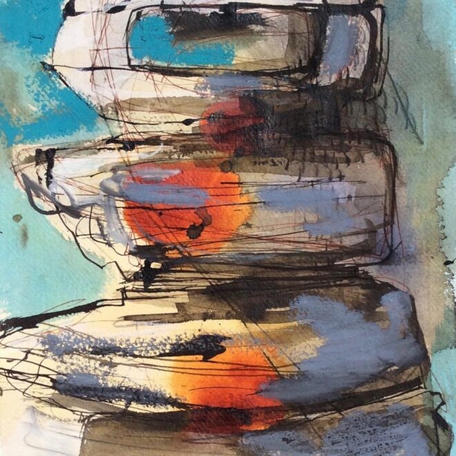 The Daniel Smith Award for innovation in the use of watercolour: Stack II by Clare Maria Wood