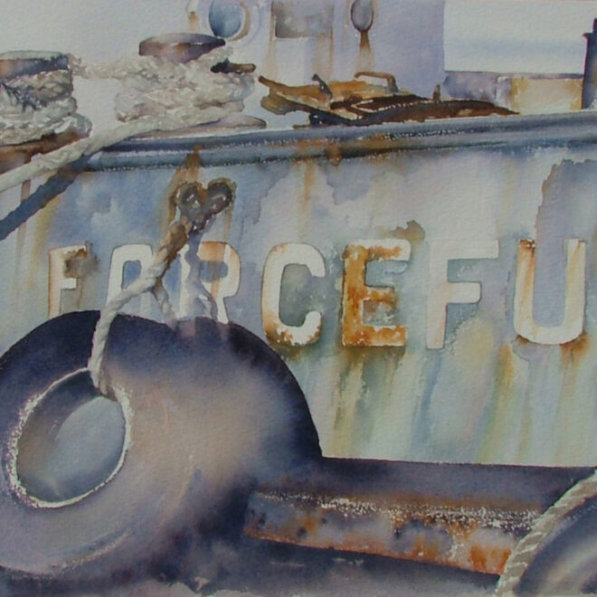 Forceful. Watercolour by Alan Noyes