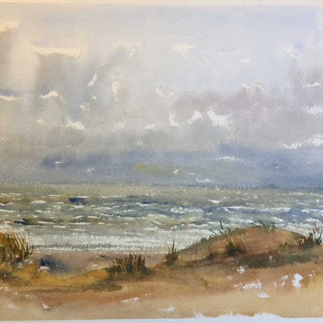 Walberswick January seas