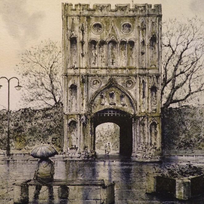 Abbey Gate, Bury by Reg Siger