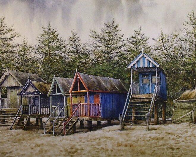 Beach Huts, Wells by Reg Siger