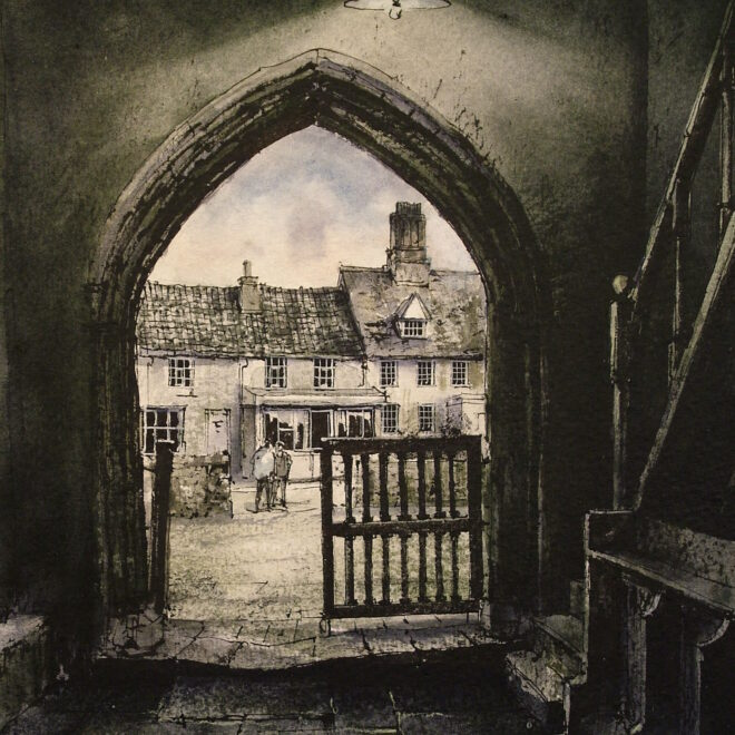 Debenham Church Porch by Reg Siger