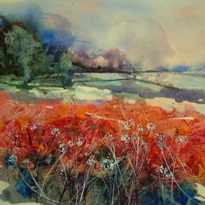 Fields of red 2 by Mita Higton