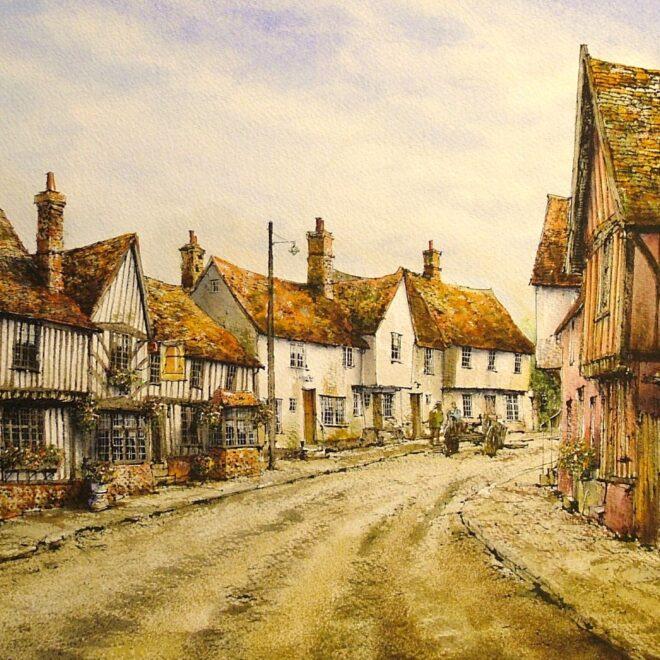 Kersey, Suffolk by Reg Siger