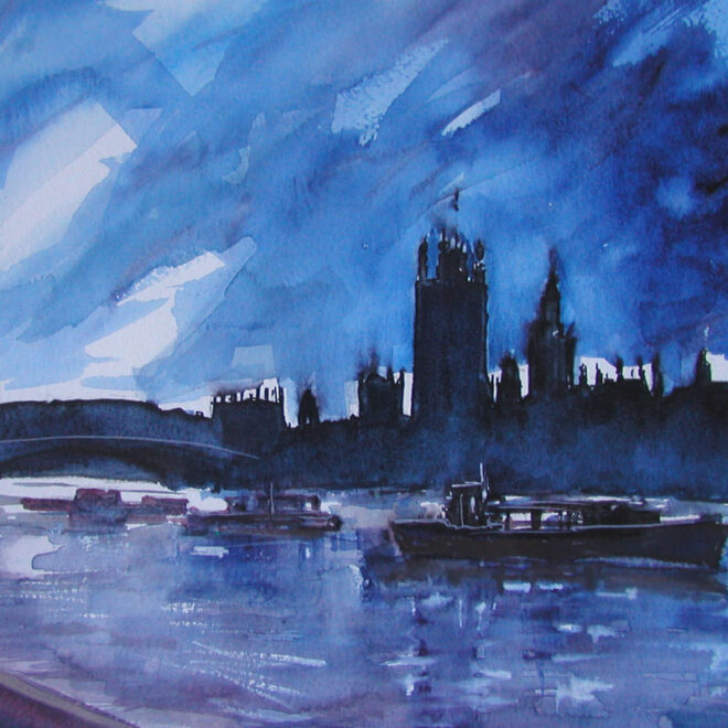 London skyline by Lesley Rumble