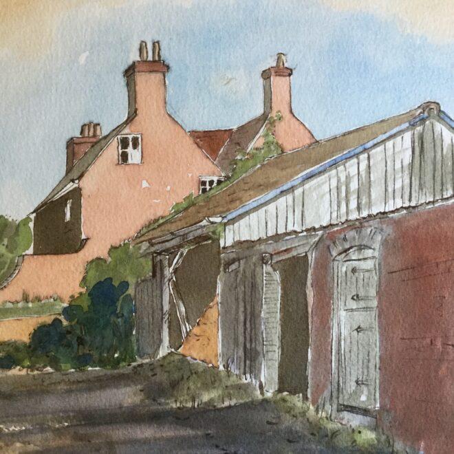 Farmyard by Rita Browne
