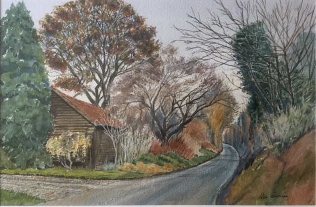 Trees and Lane by Rita Browne.