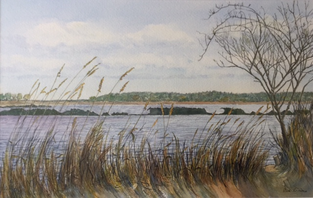 View Through the Reeds, Blythburgh by Rita Browne