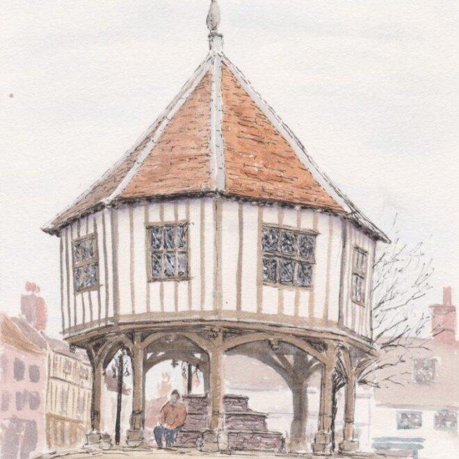 Wymondham Market Cross by Linda Purdy