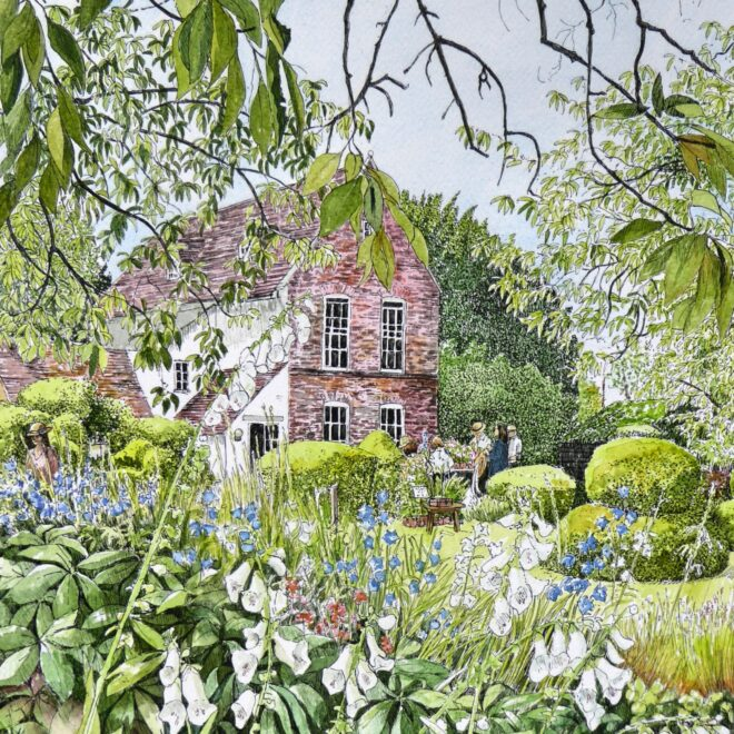 The plant stall, The Manor by Fran Godwood