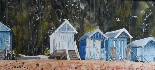 Beach_Huts by Linda Purdy