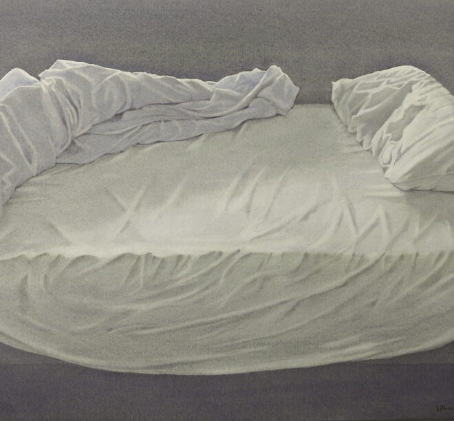 Empty bed by Lillias August