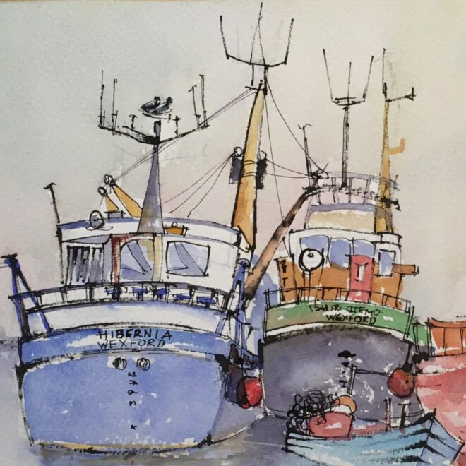 Harbour friends by Penny Newman (framed)