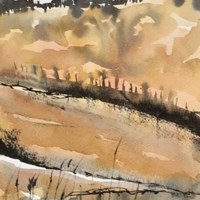 Holkham beach by Penny Newman (framed)