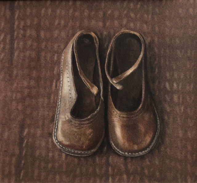 Little brown shoes by Lillias August