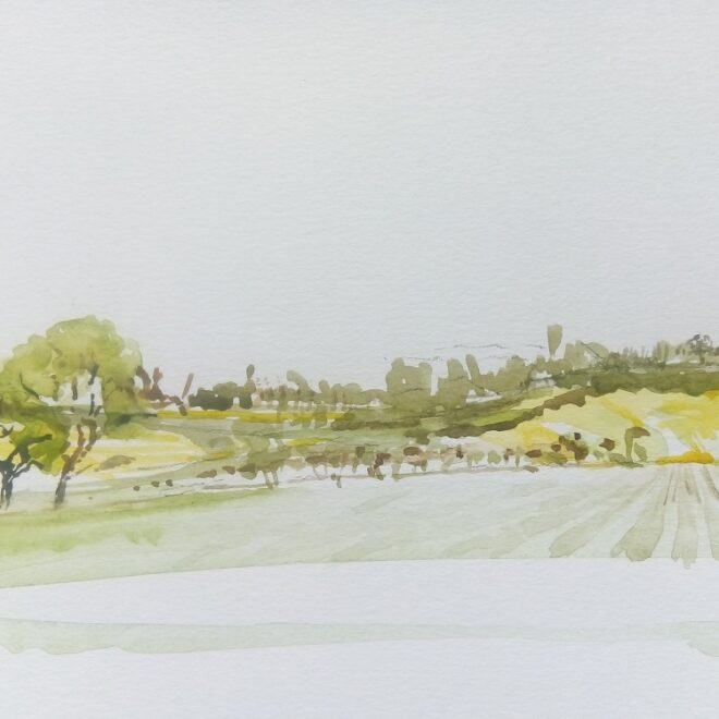 Towards Brent Eleigh by Catherine Smith