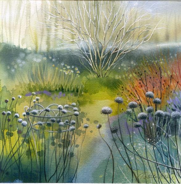Hoar Frost garden by Petula Stone