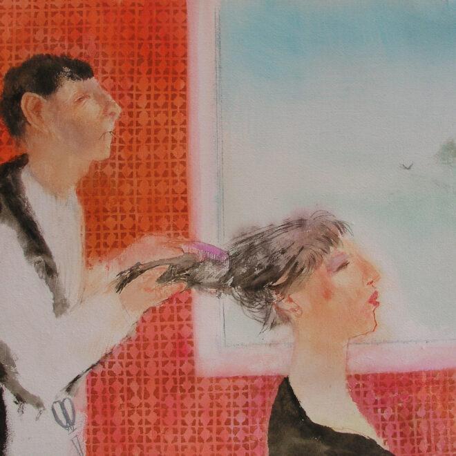 Hair Dresser by Richard Sorrell