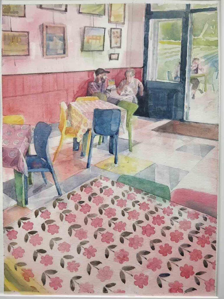 'Wiveton-Farm-Cafe',-watercolour,-Helen-Otter