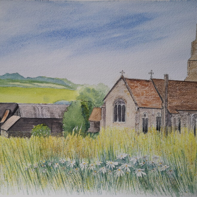 Hawkedon Church by Jan Couling