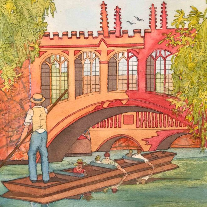 Punting-on-the-River-Cam-by-Christine-Wilson
