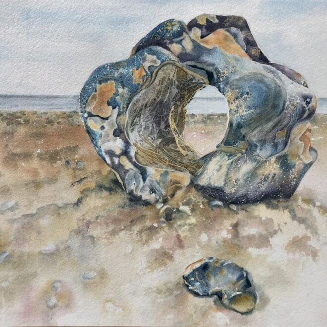 Melanie Collins - Large Pebble on Cromer Beach