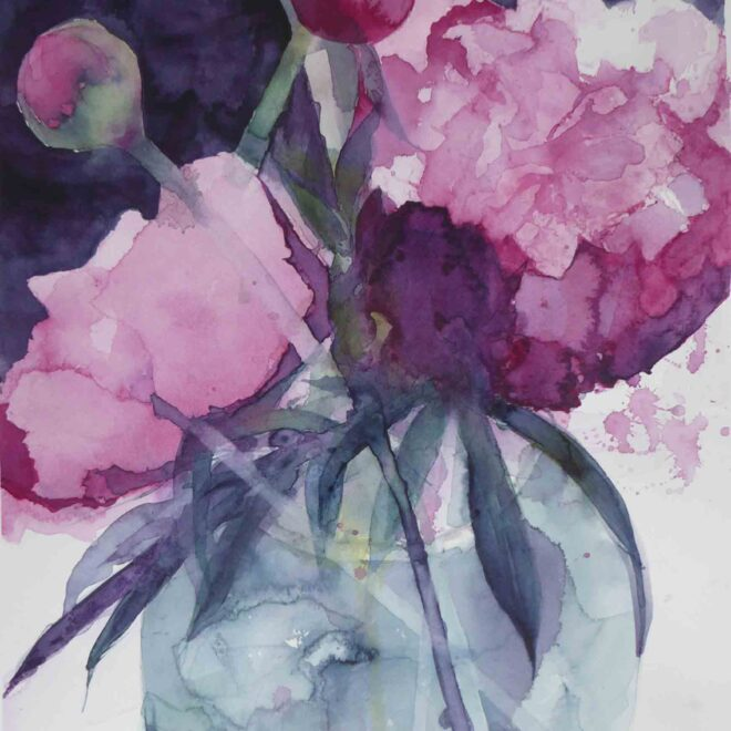 Peonies-in-a-Blue-Vase-by-Carol-Whitehouse