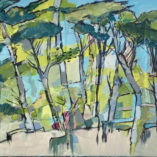 Coastal Pines by Lesley Munro